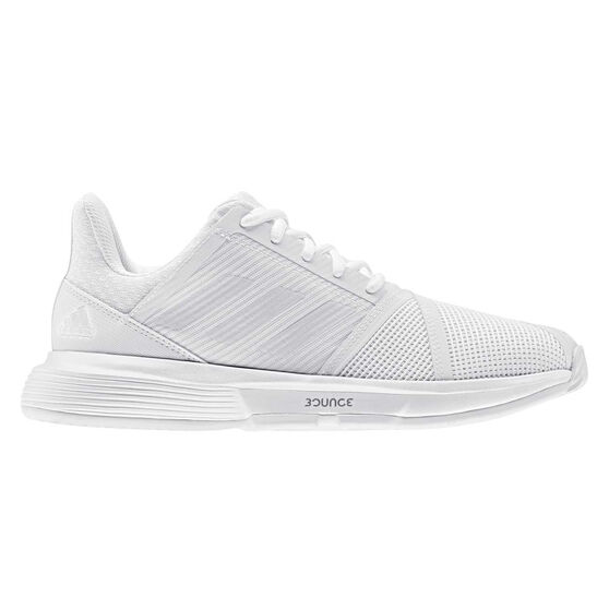 adidas Courtjam Bounce Womens Tennis Shoes, White, rebel_hi-res