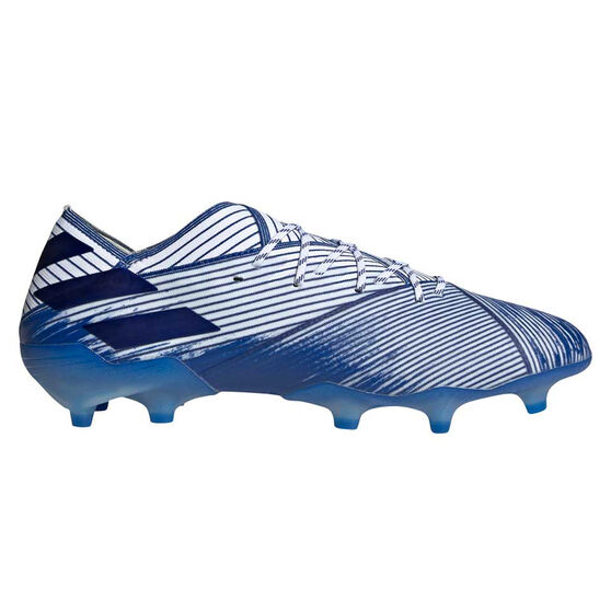 adidas Nemeziz 19.1 Football Boots, White / Blue, rebel_hi-res
