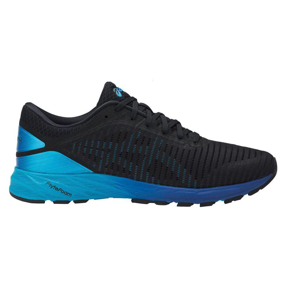fde49f762d6d Asics Dynaflyte 2 Mens Running Shoes Black   Blue US 7