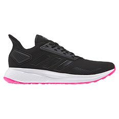 adidas Duramo 9 Womens Running Shoes Black / Pink US 6, Black / Pink, rebel_hi-res