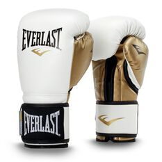 Everlast Powerlock Training Boxing Glove White / Gold 12oz, , rebel_hi-res