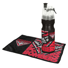 Essendon Bombers Water Bottle and Gym Towel Pack, , rebel_hi-res