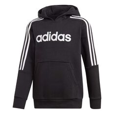 adidas Boys 3-Stripes Hoodie Black / White 10, Black / White, rebel_hi-res