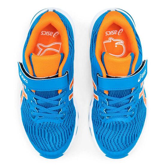 Asis GT 1000 8 Kids Running Shoes, Blue / Orange, rebel_hi-res