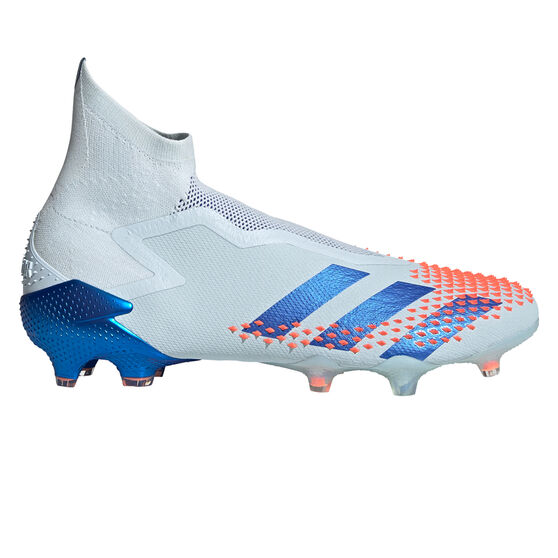 adidas Predator Mutator 20+ Football Boots, White/Blue, rebel_hi-res