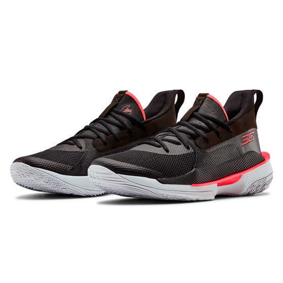 Under Armour Curry 7 Mens Basketball Shoes, Black, rebel_hi-res