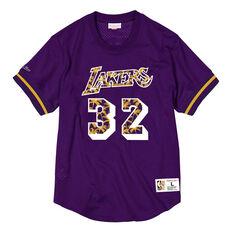 Los Angeles Lakers Magic Johnson 85 Mens Jersey Purple S, Purple, rebel_hi-res