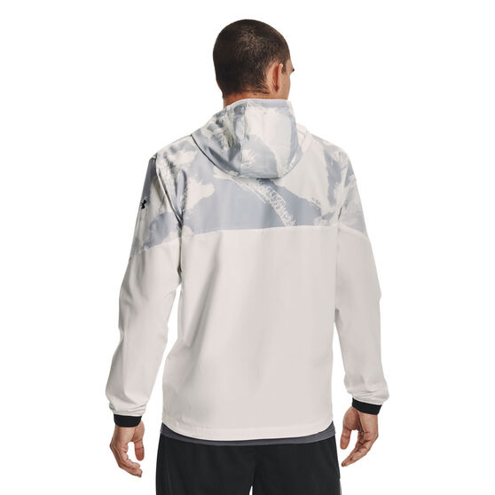 Under Armour Mens Project Rock Legacy Windbreaker, White, rebel_hi-res