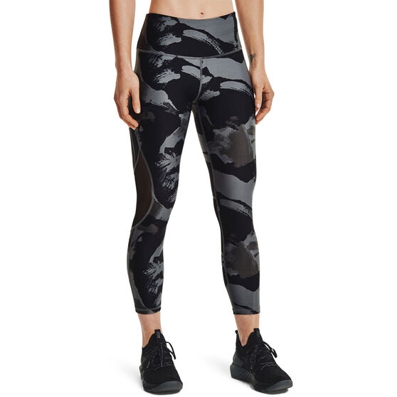 Under Armour Womens Project Rock Ankle Tights, Grey, rebel_hi-res