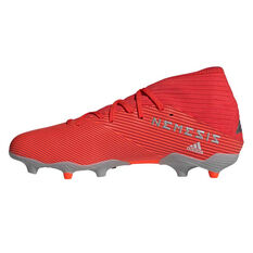 adidas Nemeziz 19.3 Football Boots Red / Silver US Mens 7 / Womens 8, Red / Silver, rebel_hi-res