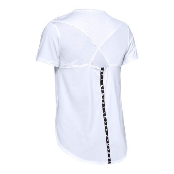 Under Armour Womens Armour Sport Crossback Tee, White, rebel_hi-res