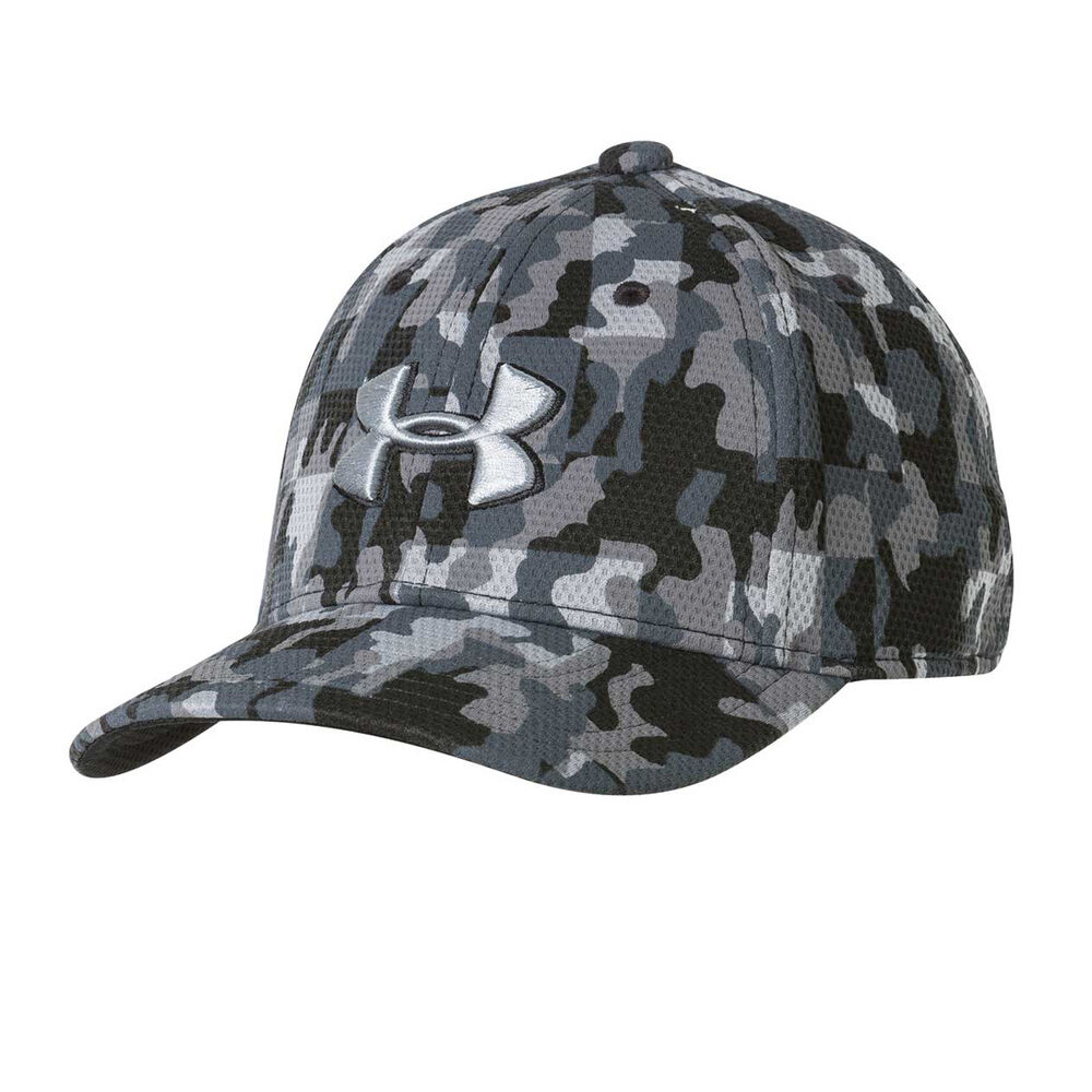 163674f1e70 Under Armour Boys Printed Blitzing Cap Black   Grey XS - S