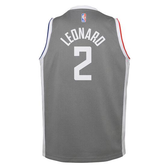 Nike Los Angeles Clippers Kawhi Leonard 2020/21 Kids Earned Jersey, Grey, rebel_hi-res