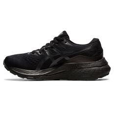 Asics GEL Kayano 28 Kids Running Shoes Black/Grey US 1, Black/Grey, rebel_hi-res