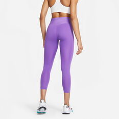 Nike Womens One Luxe Icon Clash Tights Purple L, Purple, rebel_hi-res