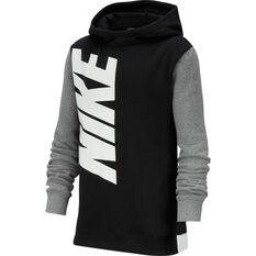 Nike Boys Pullover Hoodie Black / Grey XS, Black / Grey, rebel_hi-res