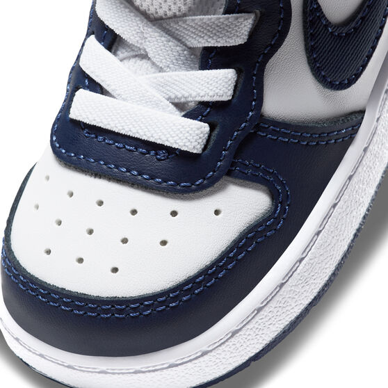 Nike Court Borough Low 2 Toddlers Casual Shoes, White/Navy, rebel_hi-res