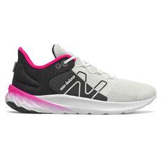 New Balance Fresh Foam Roav v2 Kids Running Shoes Black/Pink US 4, Black/Pink, rebel_hi-res