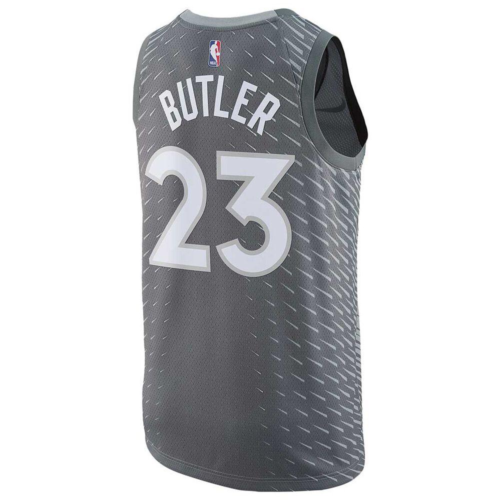 Nike Minesota Timberwolves Jimmy Butler City 2018 Mens Swingman Jersey  Silver L debb78853393