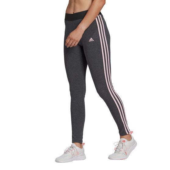 adidas Womens Loungewear Essentials 3-Stripes Tights, Grey, rebel_hi-res