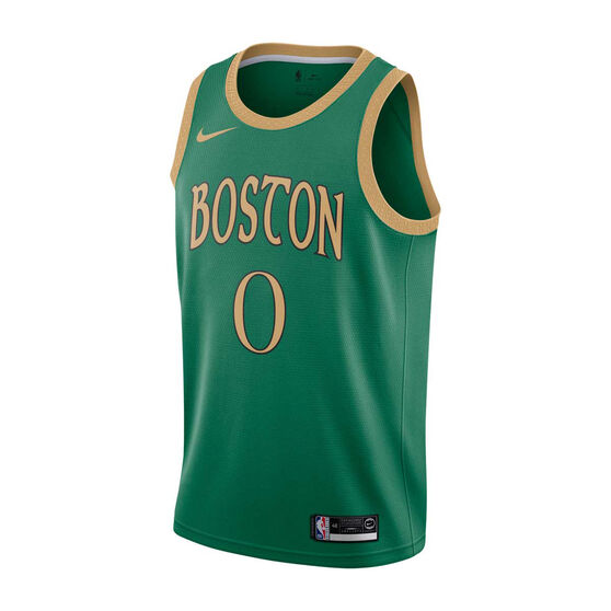 Nike Boston Celtics Jayson Tatum 2019/20 Mens City Edition Swingman Jersey, Green, rebel_hi-res