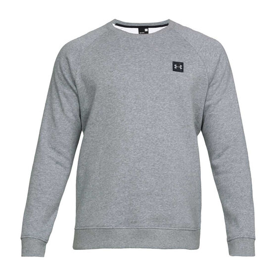 Under Armour Mens Rival Fleece Crew Sweater, Grey, rebel_hi-res