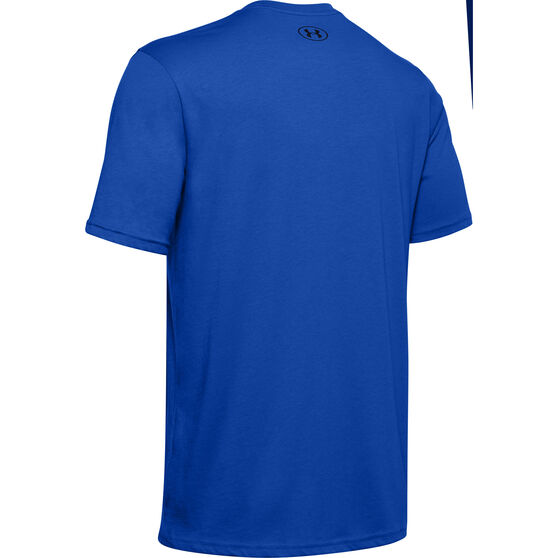 Under Armour Mens Sportstyle Left Chest Tee, Blue, rebel_hi-res