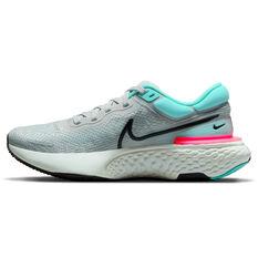 Nike ZoomX Invincible Run Flyknit Mens Running Shoes Grey/Black US 7, Grey/Black, rebel_hi-res