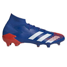 adidas Predator 20.1 Football Boots, Blue/White, rebel_hi-res