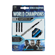 Target World Champions 80 Percent Tungsten Darts Black / Silver 22g, Black / Silver, rebel_hi-res