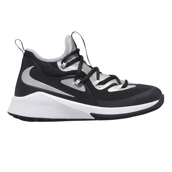 Nike Future Court 2 Kids Basketball Shoes, Black / Silver, rebel_hi-res