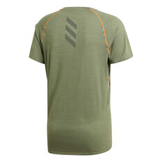 adidas Mens Runner Tee Green S, Green, rebel_hi-res