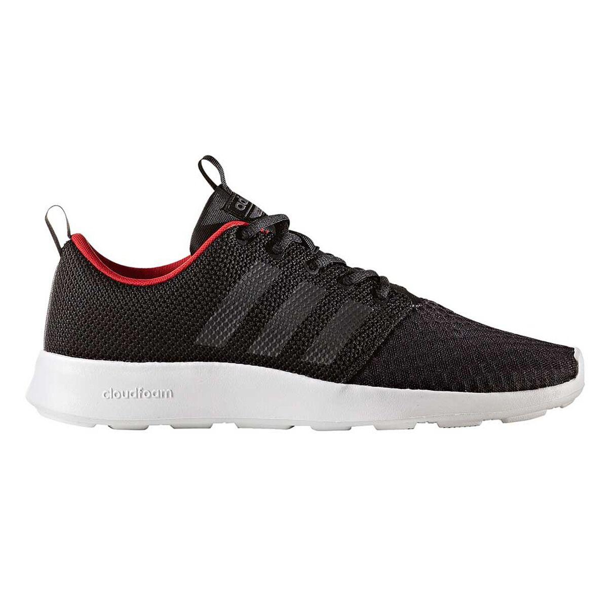 adidas cloudfoam swift racer mens casual scarpe nero / grigio noi 12