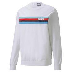 Puma Mens Celebration Sweatshirt White S, White, rebel_hi-res