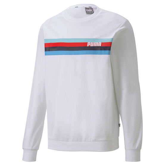 Puma Mens Celebration Sweatshirt, White, rebel_hi-res