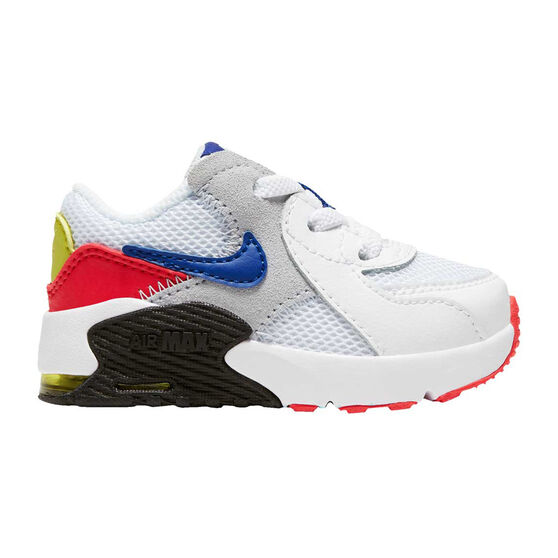 Nike Air Max Excee Toddlers Shoes White/Red US 4, White/Red, rebel_hi-res