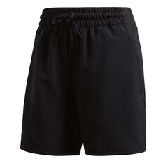 adidas Womens Knee Length Shorts Black XS, Black, rebel_hi-res
