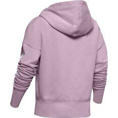 Under Armour Girls Sportstyle Fleece Hoodie Pink / Black XS, Pink / Black, rebel_hi-res
