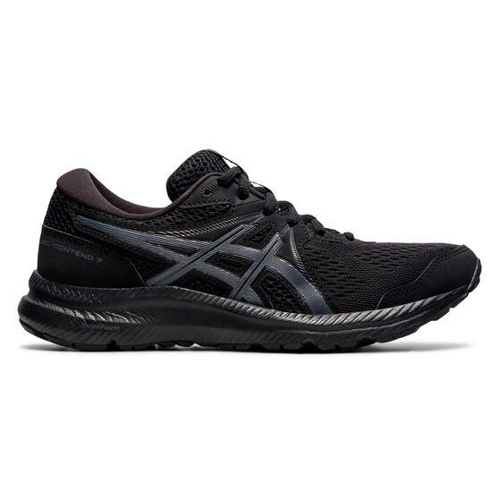 Asics GEL Contend 7 Womens Running Shoes, Black/Grey, rebel_hi-res