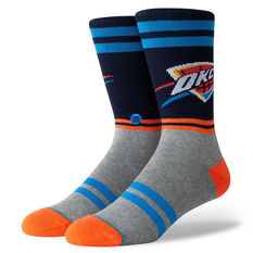 Stance Mens Oklahoma City Thunder City Gym Socks Orange / Blue M, Orange / Blue, rebel_hi-res