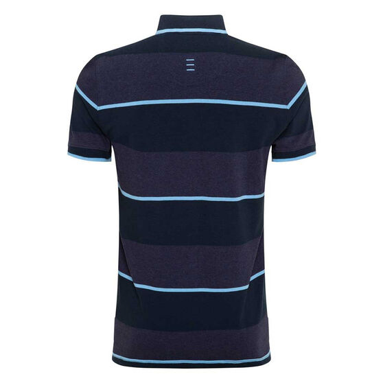 NSW Blues State of Origin 2020 Mens Stripe Polo, Navy, rebel_hi-res