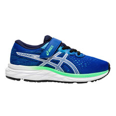 Asics GEL Excite 7 Kids Running Shoes Blue/Green US 11, Blue/Green, rebel_hi-res