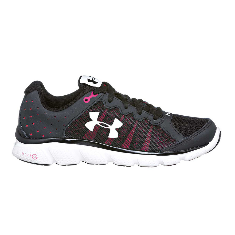 the latest 1cc1b d2d6e Under Armour Micro G Assert 6 Womens Running Shoes Black   Pink US 7, Black