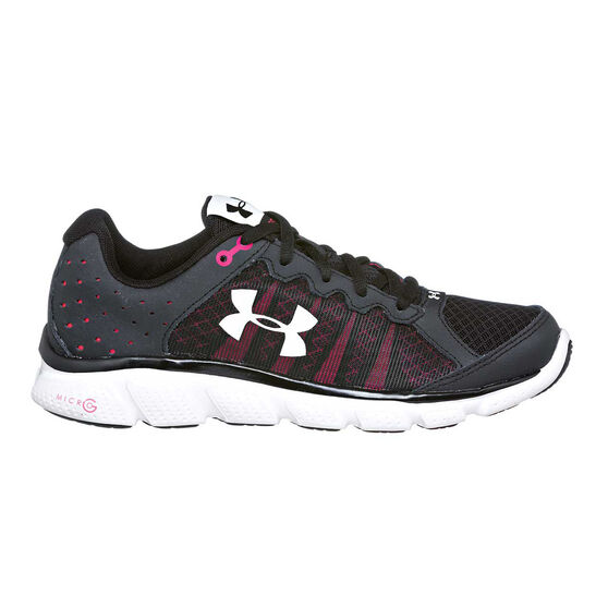 Under Armour Micro G Assert 6 Womens Running Shoes Black   Pink US 7 ... 50157c037