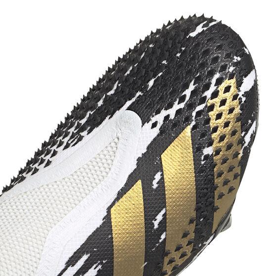adidas Predator Mutator 20+ Football Boots White/Gold US Mens 9.5 / Womens 10.5, White/Gold, rebel_hi-res