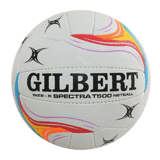 Gilbert Spectra T500 Netball White / Pink 5, , rebel_hi-res