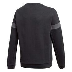 adidas Boys Branded Crew Sweatshirt Black/White 6, Black/White, rebel_hi-res