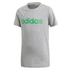 adidas Boys Essential Linear Tee Grey 6, Grey, rebel_hi-res