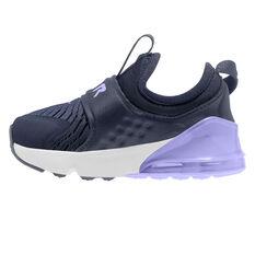 Nike Air Max 270 Extreme Toddler Shoes Navy/White US 4, Navy/White, rebel_hi-res