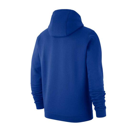 Nike Philadelphia 76ers Mens Club Logo Hoodie, Blue, rebel_hi-res